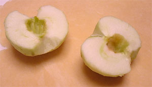 Apple Peeled and Cored